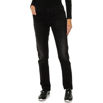 Textil Mulher Calças Armani jeans Pantalones largos Preto