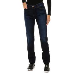 Textil Mulher Calças de ganga slim Armani jeans Pantalones largos Azul