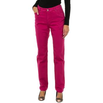 Textil Mulher Calças de ganga slim Armani jeans Pantalones largos Rosa