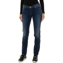Textil Mulher Calças Jeans Armani jeans Pantalones largos Azul
