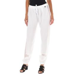 Textil Mulher Calças Met Pantalon Largo Branco