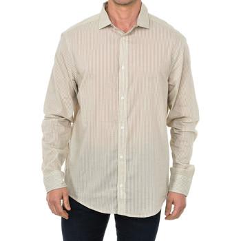 Textil Homem Camisas mangas comprida Armani jeans Camisa de manga larga Bege