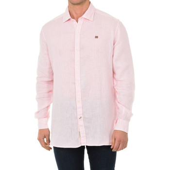Textil Homem Camisas mangas comprida Napapijri Camisa manga larga Rosa