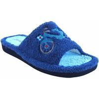 Sapatos Mulher Chinelos Berevere Vá para casa senhora  v 1006 azul Cinza
