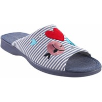 Sapatos Mulher Chinelos Garzon Vá para casa Sra.  2543.161 azul Vermelho