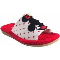 Sapatos Rapariga Chinelos Berevere Vá para casa garota  v 1015 bl.roj Vermelho