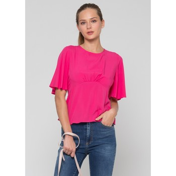 Textil Mulher Tops / Blusas Kocca Blusa KALYANI Rosa