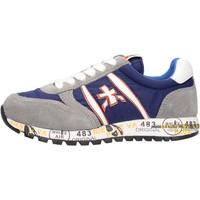 Sapatos Rapaz Sapatilhas Premiata - Sneaker grigio/blu 12-38003 GRIGIO-BLU