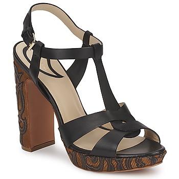 Sapatos Mulher Sandálias Etro NU-PIEDS 3763 Preto
