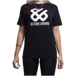 Textil T-Shirt mangas curtas Cultura Urbana  Negro