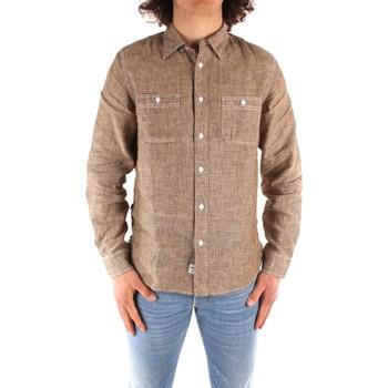 Textil Homem Camisas mangas comprida Blauer 21SBLUS01221 Castanho
