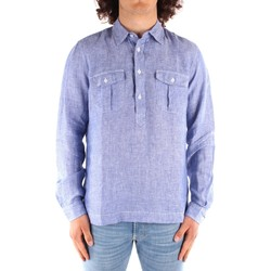 Textil Homem Camisas mangas comprida Blauer 21SBLUS01216 Azul