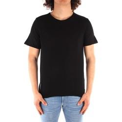 Textil Homem T-Shirt mangas curtas Blauer 21SBLUM01319 Preto