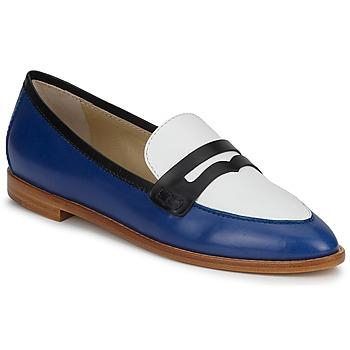 Sapatos Mulher Mocassins Etro MOCASSIN 3767 Azul / Preto / Branco