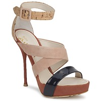 Sapatos Mulher Sandálias John Galliano AN6363 Rosa / Marinho / Bege