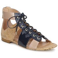 Sapatos Mulher Sandálias John Galliano AN6379 Azul / Bege / Rosa