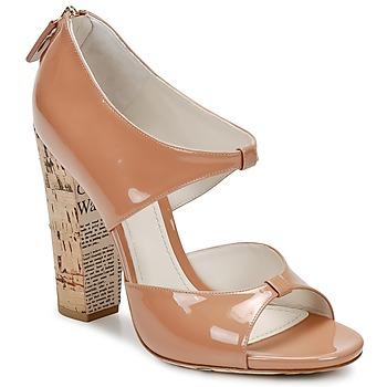 Sapatos Mulher Sandálias John Galliano AN6364 Rosa / Bege