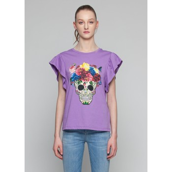Textil Mulher Tops sem mangas Kocca T-Shirt BRUK Violeta