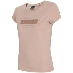 Textil Mulher T-Shirt mangas curtas 4F TSD034 Cor-de-rosa