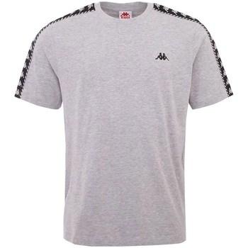 Textil Homem T-Shirt mangas curtas Kappa Ilyas Cinzento