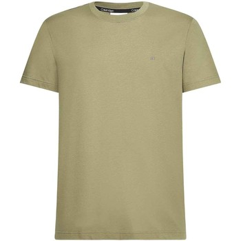 Textil Homem T-Shirt mangas curtas Calvin Klein Jeans K10K107088 Verde