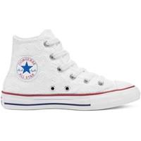 Sapatos Criança Sapatilhas de cano-alto Converse 671097C Branco