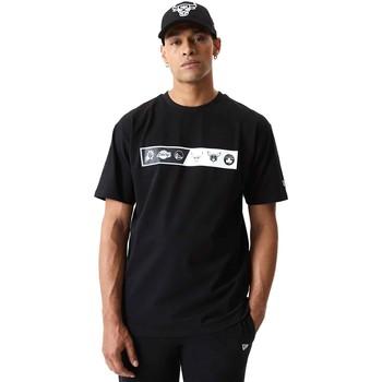 Textil Homem T-Shirt mangas curtas New-Era 12553333 Preto