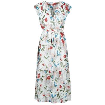Textil Mulher Vestidos compridos Moony Mood  Branco / Multicolor