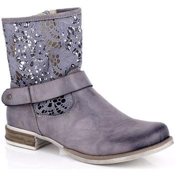 Sapatos Mulher Botas baixas Kimberfeel ANAELLE Cinza