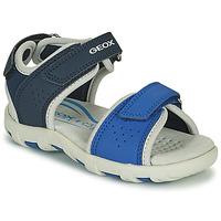 Sapatos Rapaz Sandálias Geox SANDAL PIANETA Azul