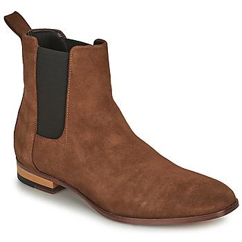 Sapatos Homem Botas baixas HUGO CULT CHEB Conhaque