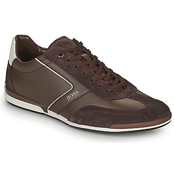 Sapatos Homem Sapatilhas BOSS SATURN LOWP ITAL Castanho