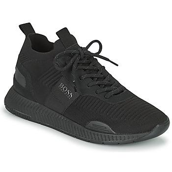 Sapatos Homem Sapatilhas BOSS TITANIUM RUNN KNST1 Preto