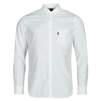 Textil Homem Camisas mangas comprida BOSS MAGNETON Branco