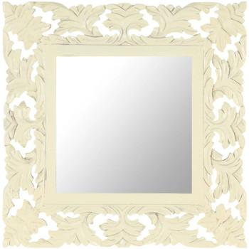 Casa Espelhos VidaXL Espelho 50 x 50 cm Branco