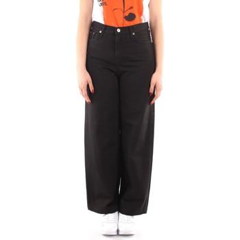 Textil Mulher Calças finas / Sarouels Roy Rogers P21RND091P3211755 Preto