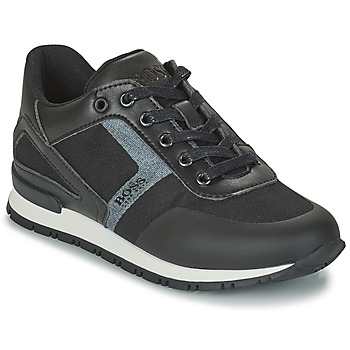 Sapatos Rapaz Sapatilhas BOSS FILEMONA Preto