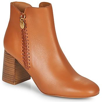 Sapatos Mulher Botins See by Chloé LOUISEE Camel