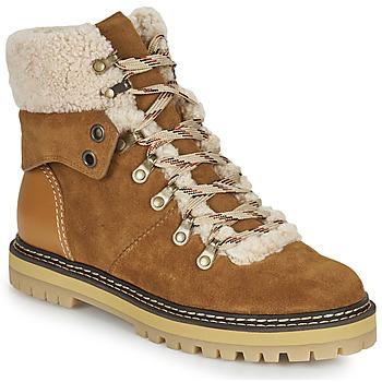Sapatos Mulher Botas de neve See by Chloé EILEEN Camel