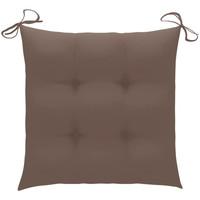 Casa Almofada de cadeira VidaXL Almofadão de cadeira 50 x 50 x 7 cm Cinzento-acastanhado
