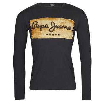 Textil Homem T-shirt mangas compridas Pepe jeans CHARING LS Preto