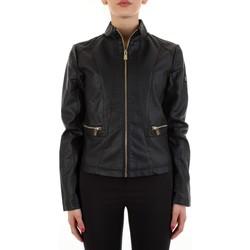 Textil Mulher Casacos de couro/imitação couro Yes Zee J475-G100 Preto
