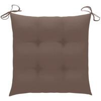 Casa Almofadas VidaXL Almofadão de cadeira 50 x 50 x 7 cm Cinzento-acastanhado