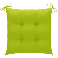 Casa Almofada de cadeira VidaXL Almofadão de cadeira 50 x 50 x 7 cm Verde