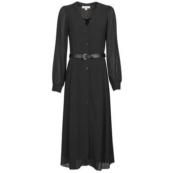 Textil Mulher Vestidos compridos MICHAEL Michael Kors CRINKLE DOTS KATE DRS Preto
