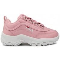 Sapatos Criança Sapatilhas Fila Strada Kids Branco, Cor-de-rosa