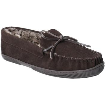 Sapatos Homem Chinelos Hush puppies  Chocolate