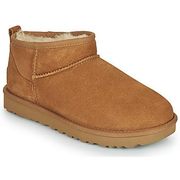 Sapatos Mulher Botas baixas UGG CLASSIC ULTRA MINI Camel