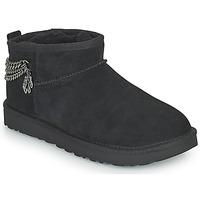 Sapatos Mulher Botas baixas UGG Classic Ultra Mini Chains Preto