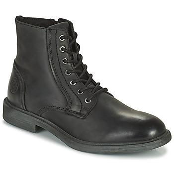 Sapatos Homem Botas baixas Jack & Jones JFW KARL LEATHER BOOT Preto